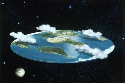People think the earth is flat in 2017