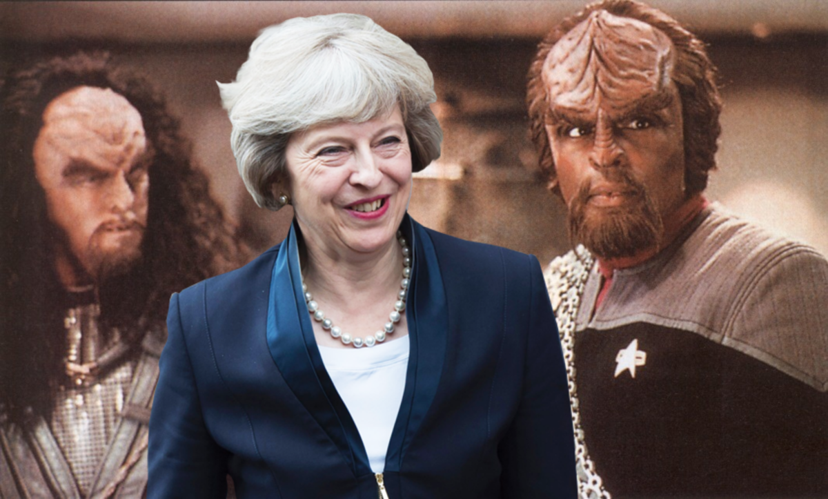 Theresa May to appear in Star Trek as a Cling On