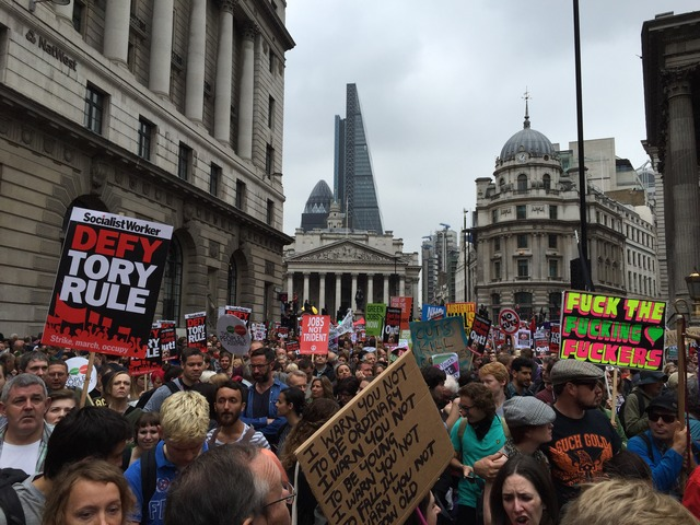 Tories heil anti austerity protest a success because 'millions of other people stayed at home'