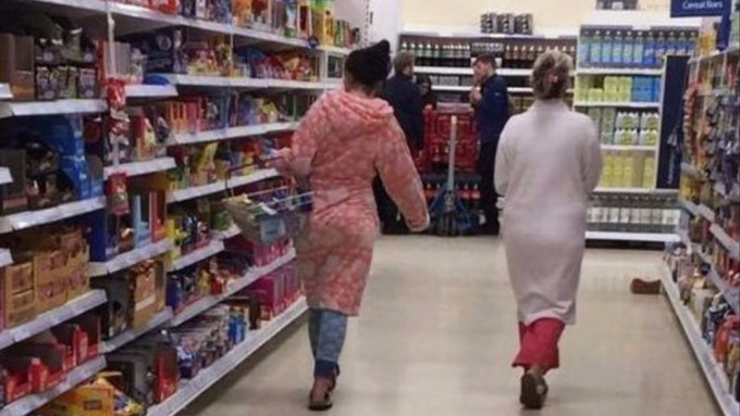 When did it become acceptable to go shopping in a fucking onesie?