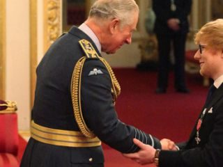 Prince Charles broke Ed Sheeran protocol when awarding him his MBE