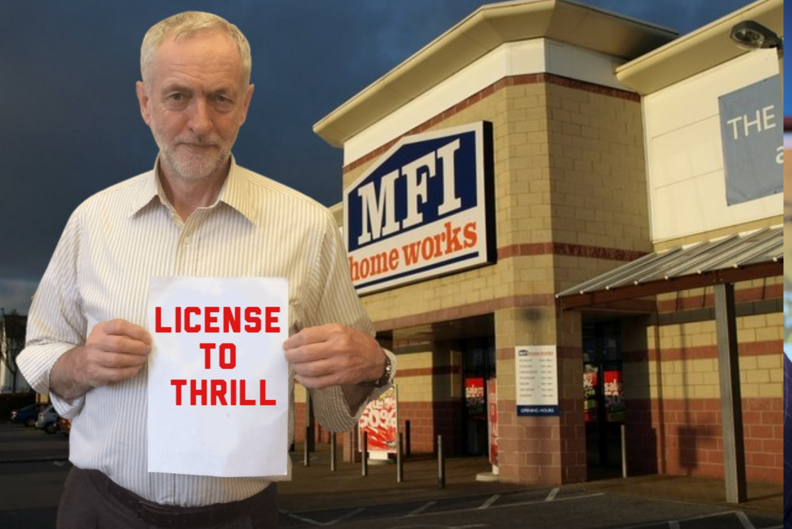 Jeremy Corbyn seen playing I Spy outside MFI