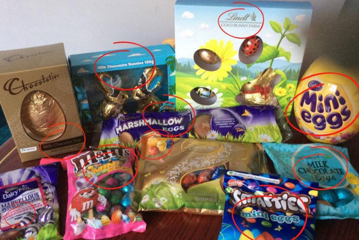 Easter eggs have never had Easter written on the box you insufferable twats