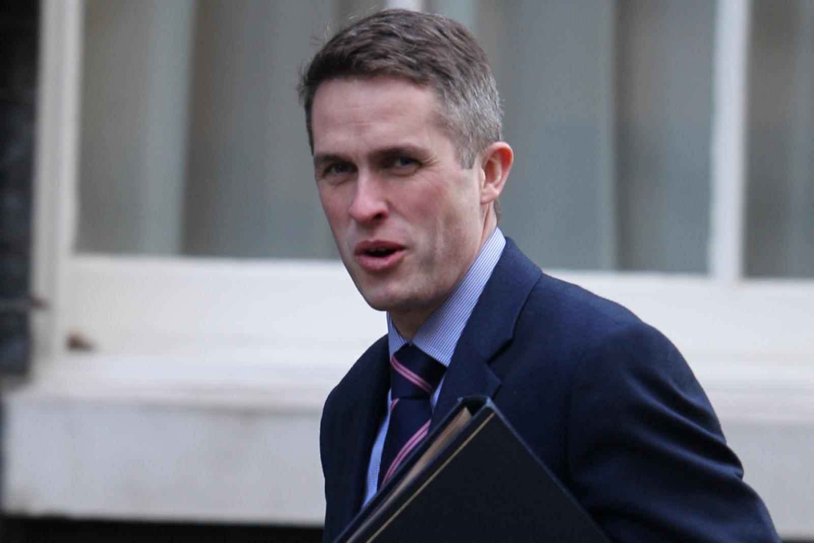 Gavin Williamson responds to latest Russian attack by putting his fingers in his ears and saying 'ner ner na ner I can't hear you'