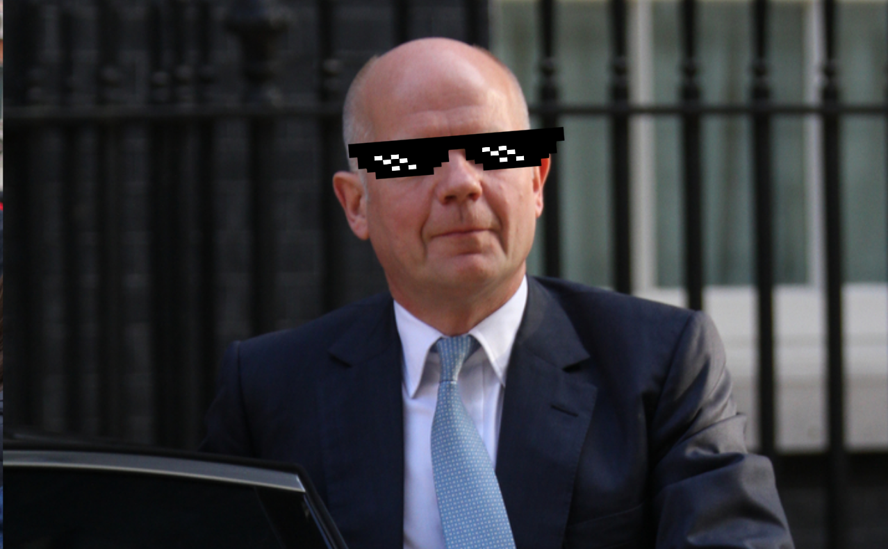 Hague may be a bald Tetley swilling Yorkshire warbler but he's right