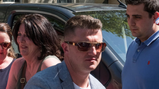 Tommy Robinson begins penning his autobiographical manifesto 'My Struggle' in prison