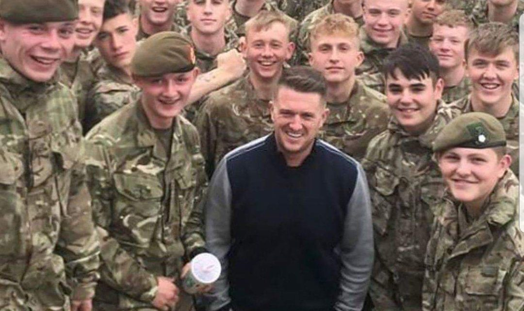 Tommy Robinson still in good spirits despite being too small to join the army cadets
