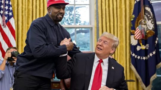 Rambling mentally disturbed man with God complex meets Kanye West