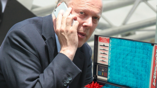 Chris Grayling Becomes Battleship World Champion
