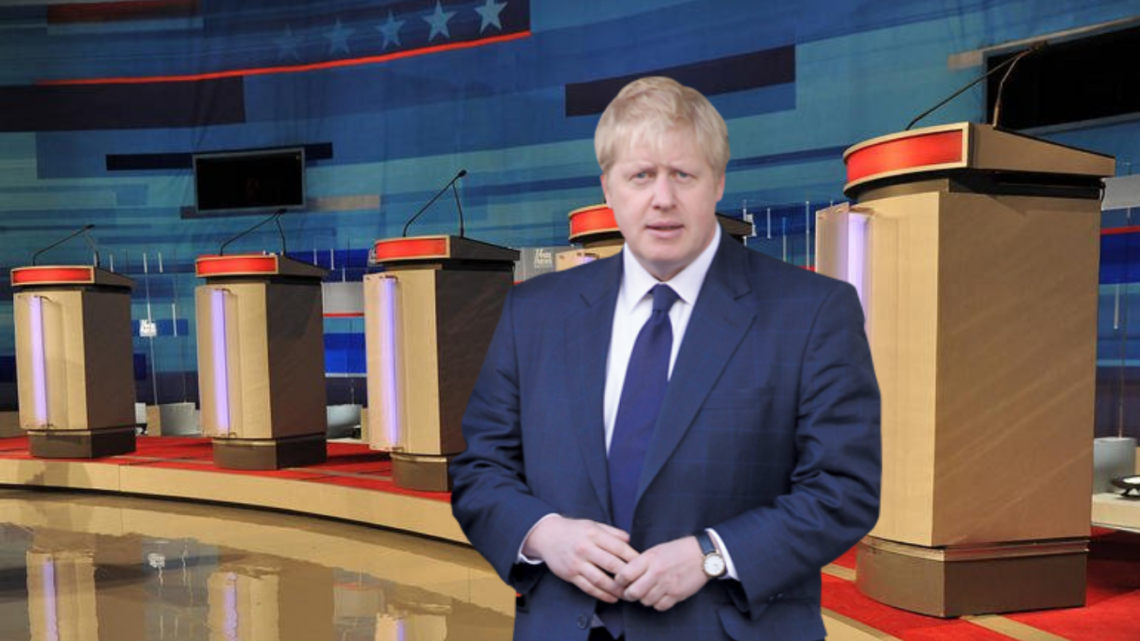 Boris Johnson arrives a day late to the Channel 4 Tory leadership debate