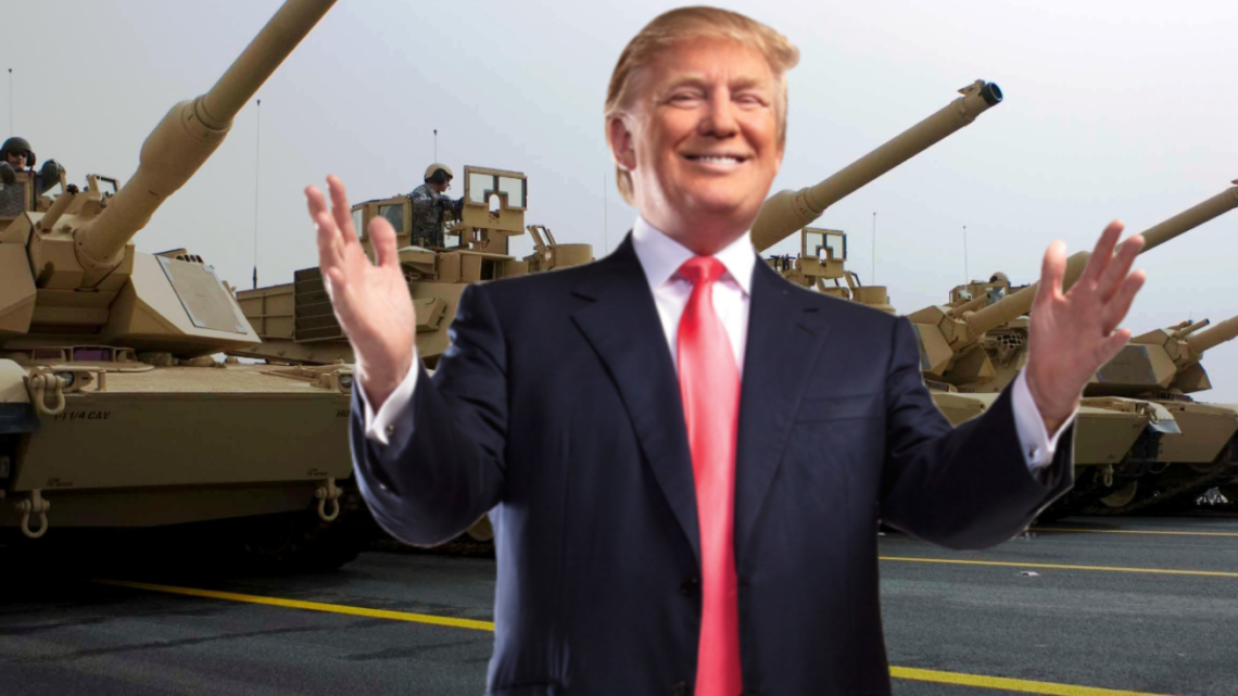 America celebrates July 4th with display of massive weapon showing off his tanks