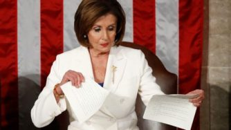 Well done Nancy for making Trump look like the second biggest toddler in the room
